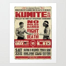 Kumite Fight Poster Art Print