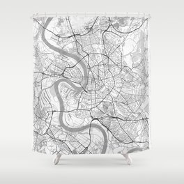 Dusseldorf Map Line Shower Curtain