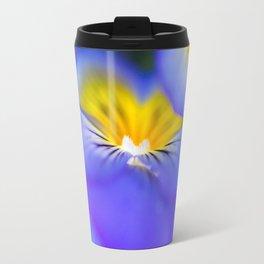 Pansy Abstract Travel Mug