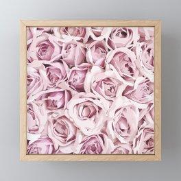 Blush Roses Framed Mini Art Print
