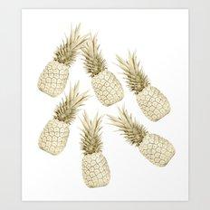 Pineapple Bling Art Print
