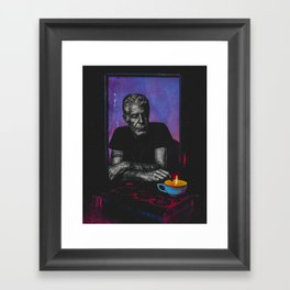 Anthony Bourdain Tribute Framed Art Print