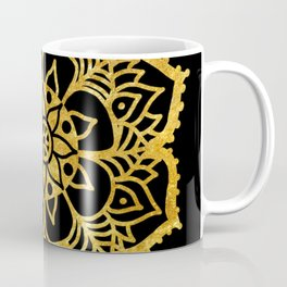Gold freehand mandala Coffee Mug