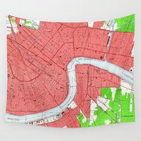 new orleans Wall Tapestries featuring New Orleans by Larsson Stevensem