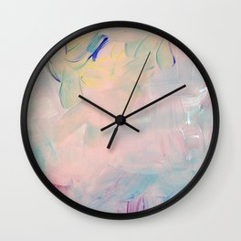 Abstract paint in pink Wall Clock