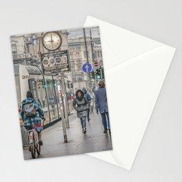 Urban Street Historic Center of Milan, Italy Stationery Cards