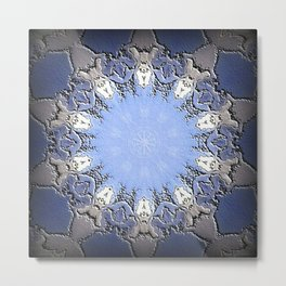 Polished Stone Metal Element Mandala Metal Print