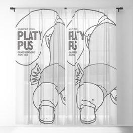 Platypus, Wildlife of Australia Sheer Curtain