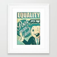 equality Framed Art Prints featuring Equality by Sophie Broyd