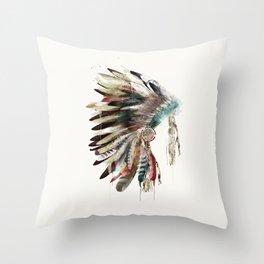 native headdress Throw Pillow