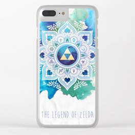 A Legendary Blue/Green Zelda Mandala Clear iPhone Case