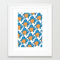 squirtle Framed Art Prints featuring  1 Squirtle, 2 Squirtle, 3 Squirtle, 4 by pkarnold + The Cult Print Shop