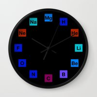 chemistry Wall Clocks featuring Chemistry Clock by moleculestore