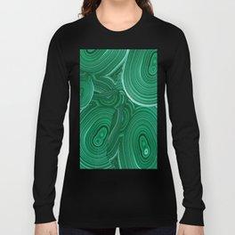 Green Malachite Nature Pattern Design Abstract Long Sleeve T-shirt