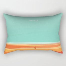 Where the sea meets the sky Rectangular Pillow
