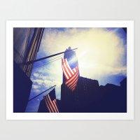 patriotic Art Prints featuring Patriotic by Manik Rathee