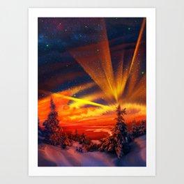 Orange Christmas Art Print