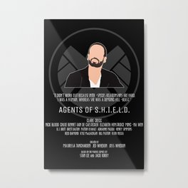 Agents of S.H.I.E.L.D. - Hunter Metal Print
