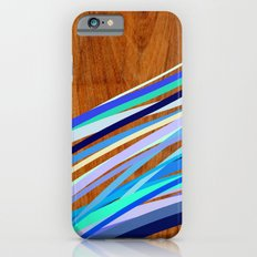 Wooden Waves Blue iPhone 6s Slim Case