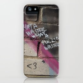 Hare Row - What A Waster iPhone Case