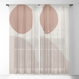 Wilde West, Abstract Landscape Sheer Curtain