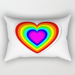 Lbgt rainbow heart Rectangular Pillow