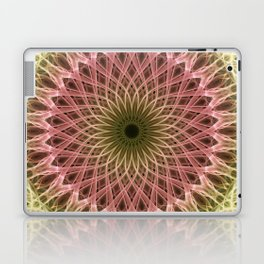 Detailed mandala in gold and red ones Laptop & iPad Skin