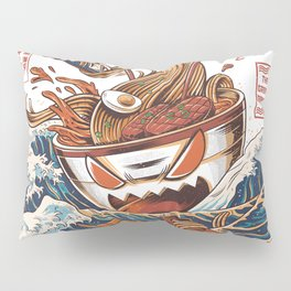 Great Ramen off Kanagawa Pillow Sham
