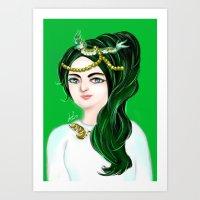 Imagination Lady Art Print