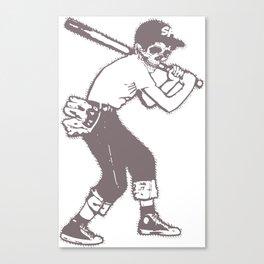 Skull Ballplayer Canvas Print