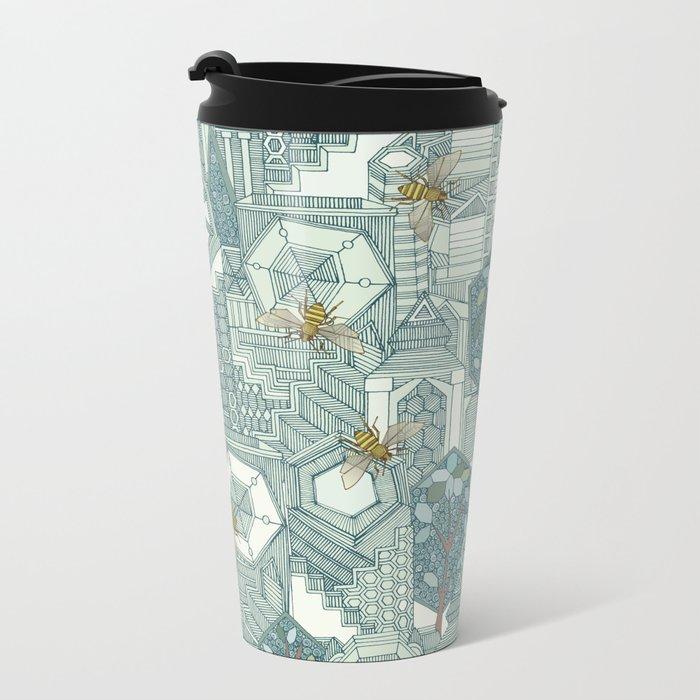hexagon city Metal Travel Mug