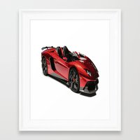 lamborghini Framed Art Prints featuring Lamborghini Veneno by rosita