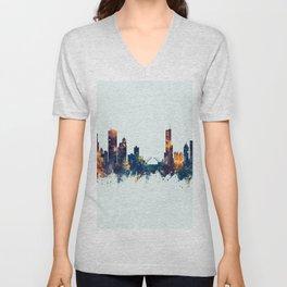 Chicago Illinois Skyline Unisex V-Neck