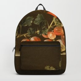 Adriaen Coorte - Gooseberries on a Table Backpack