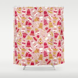 Vintage Christmas Bell Shower Curtain