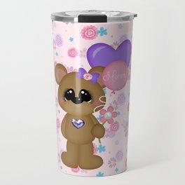 Mommy Bear Loves his Mommy Travel Mug
