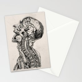 Midsagittal Cross Section of a Human Head Stationery Cards