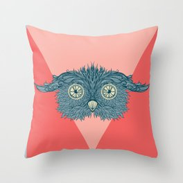 see my sowl. Throw Pillow