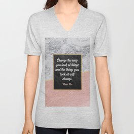 Change the way you look at things Unisex V-Neck