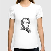 mozart T-shirts featuring Wolfgang Amadeus Mozart by Pablo Toussaint