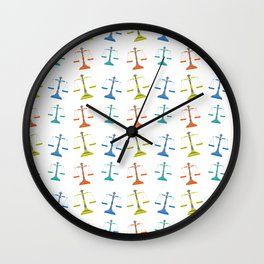 weight scale pattern Wall Clock