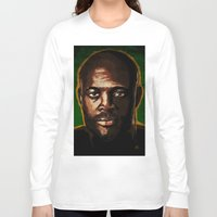"wes anderson Long Sleeve T-shirts featuring Anderson ""The Spider"" Silva by Joe Borelli"