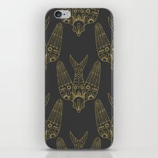 Gold Bird Pattern iPhone Skin