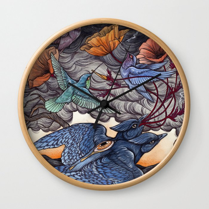 Together We Face The Storm Wall Clock