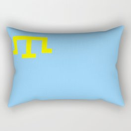 Crimean Tatar people flag russia Rectangular Pillow
