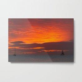 Waikiki - Fire In The Sky Metal Print