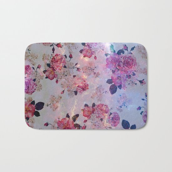 Vintage flowers Bath Mat