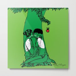 The Giving Tree or The Taking Human Metal Print