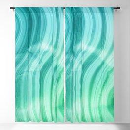 Ocean Blue And Green Mermaid  Marble Blackout Curtain