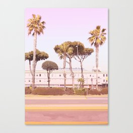 Urban Summer and Palms Canvas Print